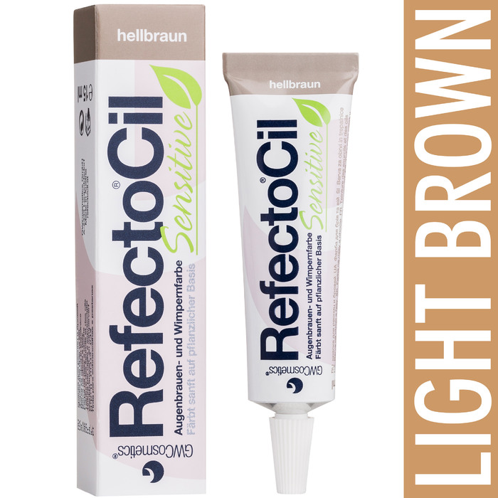Refectocil Sensitive Formula Eyelash Eyebrow Tint Light Brown