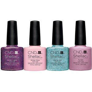 CND SHELLAC UV Color Coat - 2015 Aurora Collection - All 4 Colors 0.25 oz. Each - The 14 Day Manicure is Here! ()