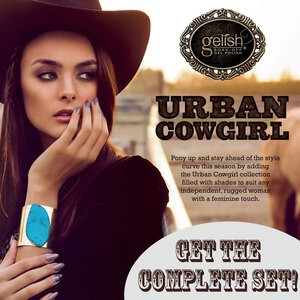 Gelish Soak Off Gel Polish - Urban Cowgirl 2015 Fall Collection - Set of 6 0.5 oz. Each ()
