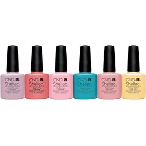 CND SHELLAC UV Color Coat - Summer 2016 Flirtation Collection 6 Piece Color Set - The 14 Day Manicure is Here! ()