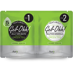 Jelly Spa Pedi Bath - Green Tea 1 SET - (1) Geen Tea Jelly Spa Bath 50 Grams - 1.76 oz. + (1) Geen Tea Dilution Mineral 50 Grams - 1.76 oz. (AJ001GRT)