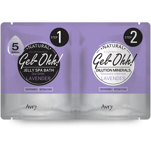 Jelly Spa Pedi Bath - Lavender 1 SET - (1) Lavender Jelly Spa Bath 50 Grams - 1.76 oz. + (1) Lavender Dilution Mineral 50 Grams - 1.76 oz. (AJ001LVR)