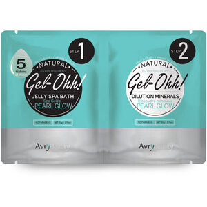 Jelly Spa Pedi Bath - Pearl Glow 1 SET - (1) Pearl Glow Jelly Spa Bath 50 Grams - 1.76 oz. + (1) Pearl Glow Dilution Mineral 50 Grams - 1.76 oz. (AJ001PRL)