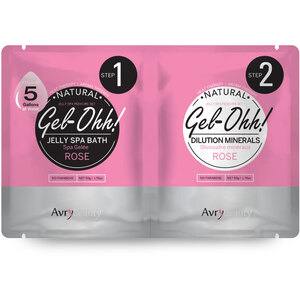 Jelly Spa Pedi Bath - Rose 1 SET - (1) Rose Jelly Spa Bath 50 Grams - 1.76 oz. + (1) Rose Dilution Mineral 50 Grams - 1.76 oz. (AJ001RSE)