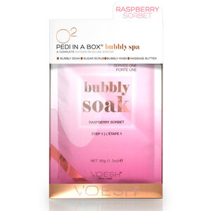 O2 Bubbly Spa - 4-Step Spa Pedi-in-a-Box - Raspberry Sorbet - A Complete Oxygen Pedicure System 1 Set (VPC307RBS X 1)