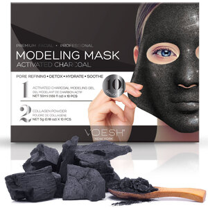 Voesh Premium Modeling Mask - Activated Charcoal Box of 10 Masks (VMM050CHL)