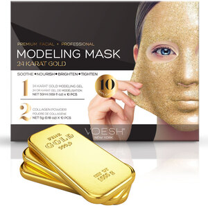 Voesh Premium Modeling Mask - 24 Karat Gold Box of 10 Masks (VMM050GLD)