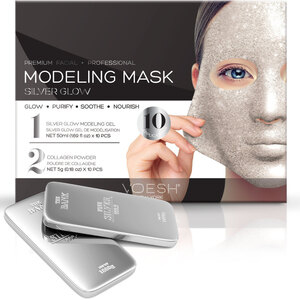 Voesh Premium Modeling Mask - Silver Glow Box of 10 Masks (VMM050SIL)