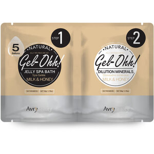 Gel-Ohh Jelly Spa Pedi Bath - Milk & Honey 1 SET - (1) Milk & Honey Jelly Spa Bath 50 Grams - 1.76 oz. + (1) Milk & Honey Dilution Mineral 50 Grams - 1.76 oz. (AJ001MLK)