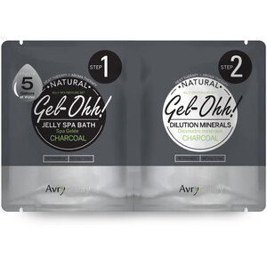 Gel-Ohh Jelly Spa Pedi Bath - Charcoal 1 SET - (1) Charcoal Jelly Spa Bath 50 Grams - 1.76 oz. + (1) Charcoal Dilution Mineral 50 Grams - 1.76 oz. (AJ001CHL)
