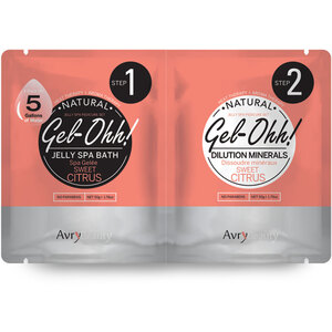 Gel-Ohh Jelly Spa Pedi Bath - Sweet Citrus 1 SET - (1) Sweet Citrus Jelly Spa Bath 50 Grams - 1.76 oz. + (1) Sweet Citrus Dilution Mineral 50 Grams - 1.76 oz. (AJ001SWC)