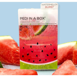 Voesh Deluxe Pedicure in a Box - 4-Step Hygienic Spa Pedicure Kit - Watermelon Burst 1 Treatment Set (VPC208WTR)