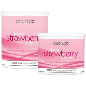 Caronlab Professional Elite Wax - Deluxe Strawberry Strip Wax Creme - Microwaveable 800 mL. - 28 oz. per Jar X 4 Jars = 3.2 Liters - 77.7 oz. (USCL-2WSSC8 X 4)