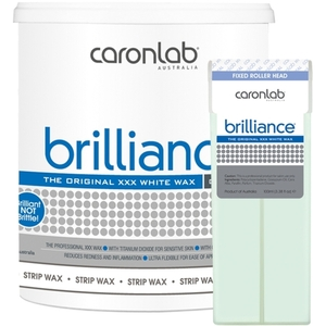 Caronlab Professional Elite Wax - Brilliance Strip Wax - Microwaveable 800 mL. - 28 oz. per Jar X 4 Jars = 3.2 Liters - 77.7 oz. (USCL-2WSBR8 X 4)