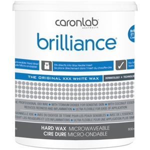 Caronlab Professional Elite Wax - Brilliance Hard Wax - Microwaveable 800 mL. - 28 oz. per Jar X 4 Jars = 3.2 Liters - 77.7 oz. (USCL-2WHBR8 X 4)