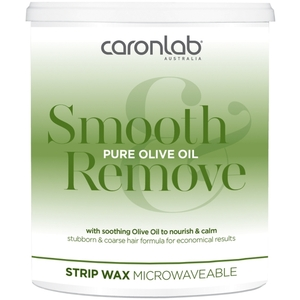 Caronlab Smooth & Remove Wax - Pure Olive Oil Strip Wax - Microwaveable 800 mL. - 28 oz. per Jar X 4 Jars = 3.2 Liters - 77.7 oz. (USCL-2WSOO8 X 4)