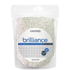 Caronlab Professional Elite Wax - Brilliance Hard Wax Beads - The Original XXX White Wax 35.3 oz. - 1 Kg. Bag (276 0457)
