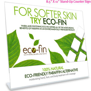 "Eco-Fin Counter Card in Acrylic Frame 8.5"" L x 11"" H"