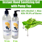 Instant Hand Sanitizing Gel with Pump Top | 66% Alcohol + Aloe - Kills 99.9% of Germs 16 oz. ()