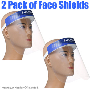 Protective Full Face Shield - Personal Protective Equipment PPE Pack of 2 ()