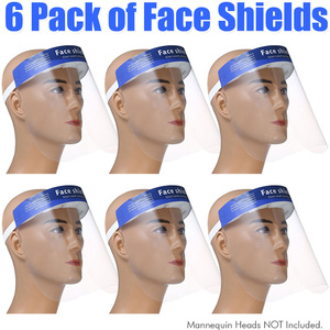 Protective Full Face Shield - Personal Protective Equipment PPE Pack of 6 ()