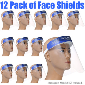 Protective Full Face Shield - Personal Protective Equipment PPE Pack of 12 ()