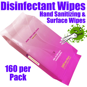 Disinfectant Hand Sanitizing Wipes + Surface Wipes - Fragrance-Free / 160 per Soft Pack
