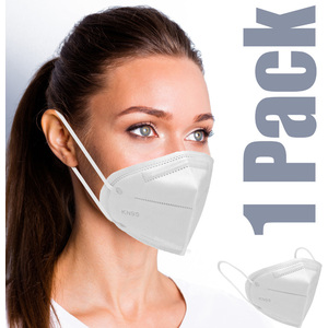 Face Masks - KN95 Three Dimensional Protective Respirator 1 Pack - Individually Wrapped ()