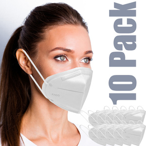 Face Masks - KN95 Three Dimensional Protective Respirator 10 Pack - Individually Wrapped ()