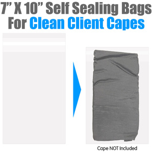 "Clean Cape Bags - 7"" X 10"" Disposable Self Seal Bags - Give Your Salon Clients Peace of Mind! 1000 Count (US5066)"