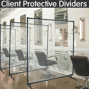 Styling Station / Pedi Chair / Relaxation Room Protective Divider - Free Standing / 4 Ft. Wide X 6 Ft. High
