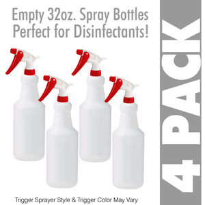 Empty 32 oz. Bottle with Trigger Sprayer 4 Pack ()