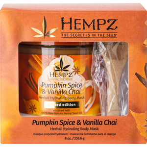 Hempz Pumpkin Spice & Vanilla Chai Herbal Body Mask 8 oz. - 236.6 grams (55108)