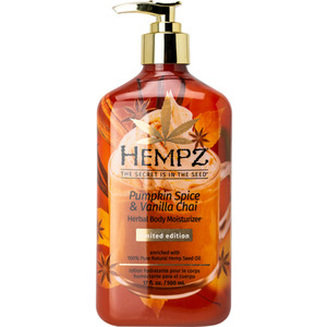 Hempz Pumpkin Spice & Vanilla Chai Herbal Body Moisturizer 17 oz. 500 mL. (M55106 - 55106)