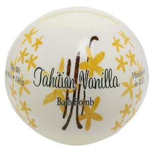 Primal Elements Bath Bomb - TAHITIAN VANILLA 4.8 oz - 136 grams (M50909 - 50914)