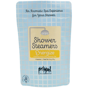 Primal Elements Shower Steamers - ENERGIZE (2) 3 oz. Steamer Tablets - 2-3 Uses per Tablet 6 oz. - 170 grams (M50981 - 50982)