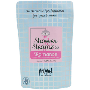 Primal Elements Shower Steamers - ROMANCE (2) 3 oz. Steamer Tablets - 2-3 Uses per Tablet 6 oz. - 170 grams (M50981 - 50983)