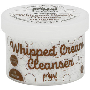 Primal Elements Whipped Cream Cleanser - FIJI COCONUT 7 oz. - 198 Grams (M50987 - 50990)
