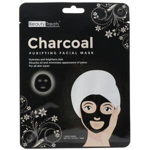 BEAUTY TREATS - Charcoal Purifying Facial Mask 1 Sheet Mask (11040)