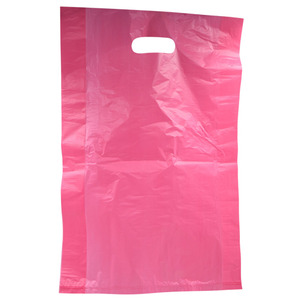 Pink Plastic Bags for Retail Purchases 100 Pack (1111)