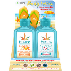 Hempz Body Lovin' Moisturizers Display 8 Limited Edition Moisturizers + 1 Display (41910)