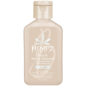 Hempz Koa & Sweet Almond Smoothing Herbal Body Moisturizer 2.25 oz. - 66 mL. (M41806 - 41807)