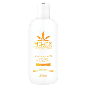 Hempz Tahitian Vanilla & Ginger Body Wash 8 oz. - 237 mL. (41640)
