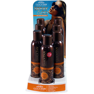 Body Drench - Quick Tan Display with Tester (6) 6 oz. Instant Bronzing Sprays + (1) 6 oz. Tester. (10719)