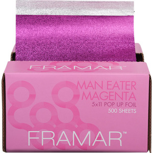 "Framar 5""x11"" Pop Up Foil It Sheets - Man Eater Magenta 500 Sheets (M46010 - 46060)"