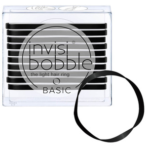 Invisibobble - Basic Hair Bands - True Black 10 Hair Rings (M71350 - 71350)