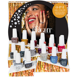 OPI GelColor Shine Bright Collection 19 Piece Chipboard Display (HPM22)