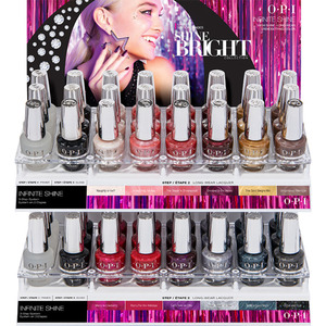 OPI Infinite Shine - Air Dry 10 Day Nail Polish - Shine Bright Collection 48 Piece Acrylic Display (HRM57)