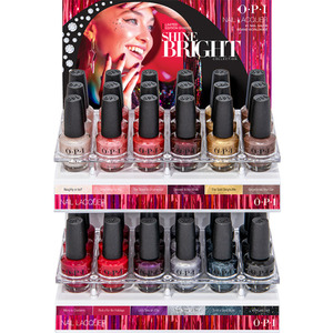 OPI Nail Lacquer - Shine Bright Collection 36 Piece Acrylic Display (HRM26)