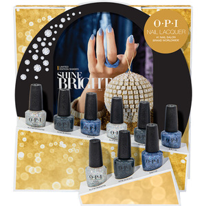 OPI Nail Lacquer - Shine Bright Collection 9 Piece Glitters Display (HRM24)